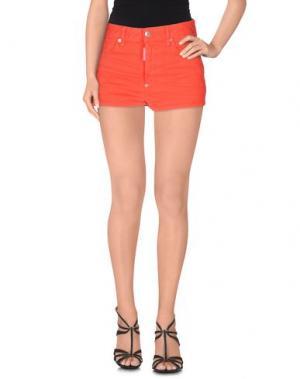 Джинсовые шорты DSQUARED2. Цвет: красный