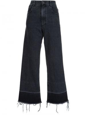 Frayed bottom flare jeans Rachel Comey. Цвет: чёрный