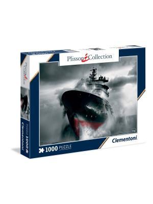 Clementoni. Филипп Плиссон Монохромный шторм. Пазл 1000 элементов. Clementoni. Цвет: белый, синий, серый