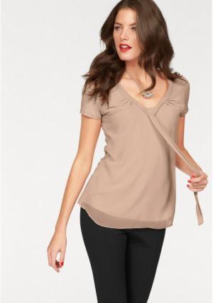 Блузка VIVANCE. Цвет: бежевый