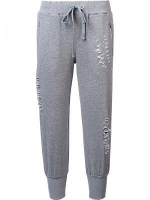 Спортивные брюки Ripped Thomas Wylde. Цвет: серый