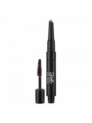 Гель для бровей и хайлайтер Brow Intencity 218 Extra Dark Sleek MakeUp. Цвет: коричневый
