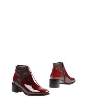 Полусапоги и высокие ботинки ZINDA. Цвет: красно-коричневый