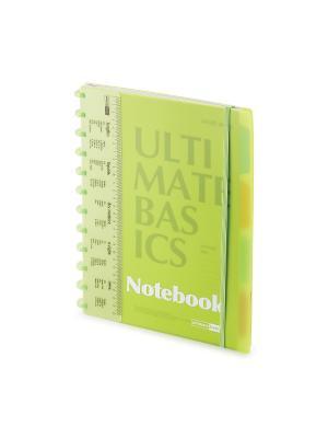 Бизнес-блокнот  с пластиковой линейкой а4, 80 л. гр.ultimate basics, разделители, зеленый Альт. Цвет: зеленый
