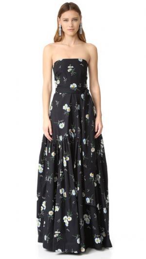 Вечернее платье Dakota Jill Stuart. Цвет: принт с изображением маргариток