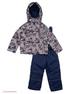 Комплект для мальчика демисезонный /куртка, полукомбинезон/ Rusland. Цвет: синий, серый