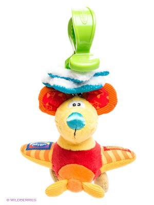 Мягкая игрушка-подвеска Мышка Playgro. Цвет: желтый, салатовый, красный