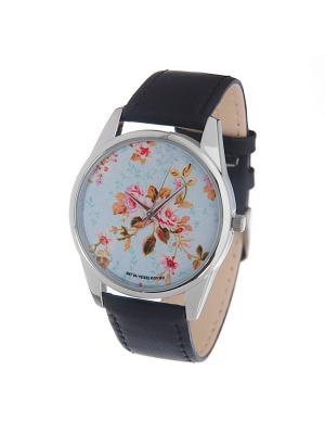 Часы Mitya Veselkov Розы на голубом. Цвет: голубой