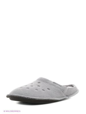 Тапочки CROCS. Цвет: серый