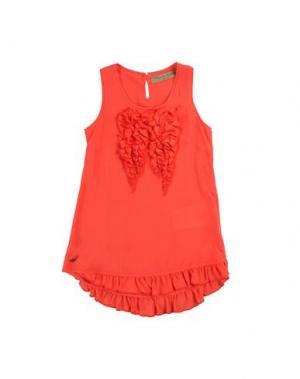 Платье MANILA GRACE DENIM. Цвет: красный