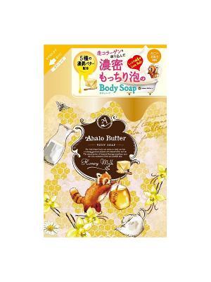 Жидкое мыло для тела с тропическими маслами, медом и молоком AHALO BUTTER. Цвет: золотистый