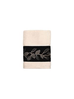 4 банных полотенца 127х69 см Blonder Home. Цвет: кремовый, черный