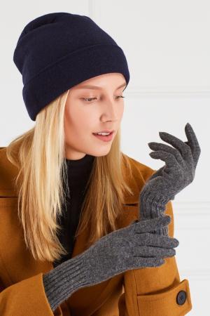 Кашемировые перчатки Tegin. Цвет: серый
