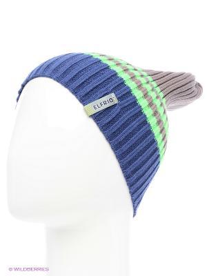 Шапка ELFRIO. Цвет: бежевый, зеленый, серо-голубой