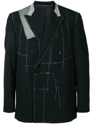 Пиджак асимметричного кроя Consistence. Цвет: чёрный