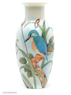 Ваза (Pavone) Pavone. Цвет: голубой, молочный, зеленый, рыжий