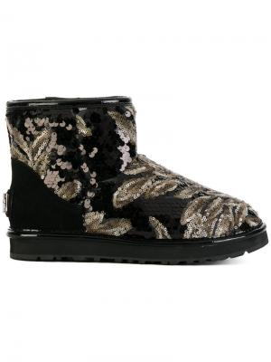 Ботинки с пайетками Gianni Renzi. Цвет: чёрный