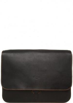 Кожаная сумка с откидным клапаном Boldrini. Цвет: черный