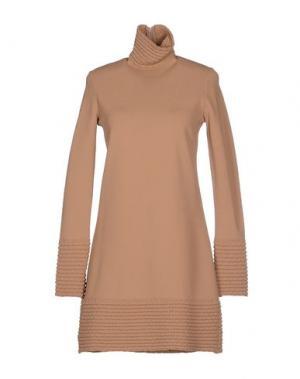 Короткое платье VICEDOMINI. Цвет: верблюжий