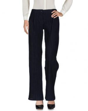 Повседневные брюки VIRGINIA BIZZI. Цвет: темно-синий