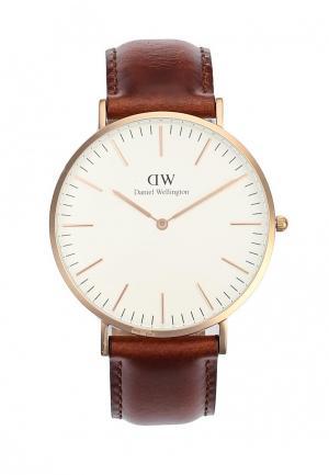 Часы Daniel Wellington. Цвет: коричневый