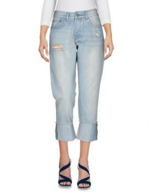Джинсовые брюки-капри SCOUT. Цвет: синий