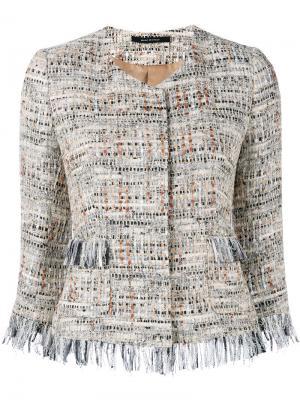 Milly tweed jacket Tagliatore. Цвет: телесный
