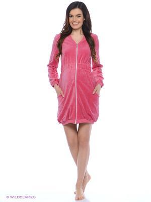Велюровый халат для беременных Nuova Vita. Цвет: красный