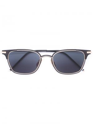 Солнцезащитные очки в квадратной оправе Thom Browne. Цвет: чёрный