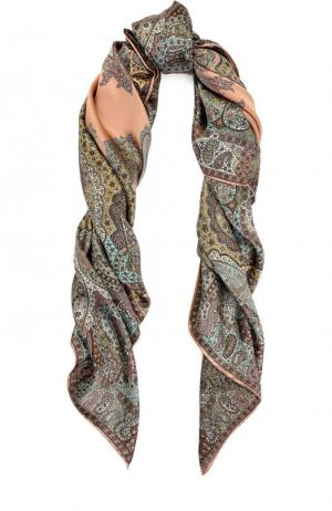 Шелковый платок с принтом Michele Binda. Цвет: разноцветный