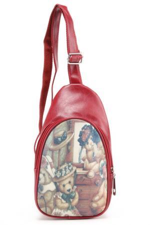 Рюкзак Rekotti. Цвет: красный, коричневый, белый
