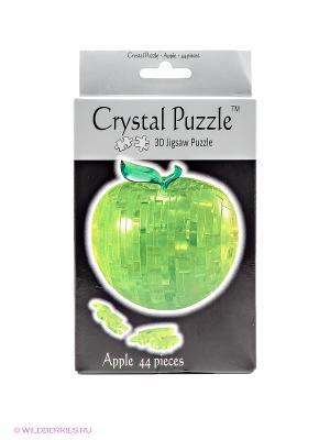3D головоломка Яблоко Crystal puzzle. Цвет: зеленый