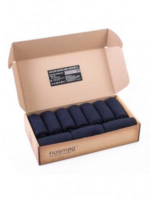 Набор темно-синих носков Гранд Сокс, с сургучной печатью, 10 пар NosMag. Цвет: темно-синий