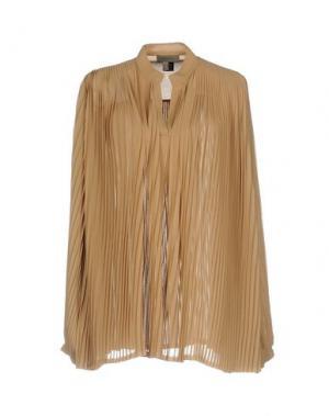 Блузка TONY COHEN. Цвет: верблюжий
