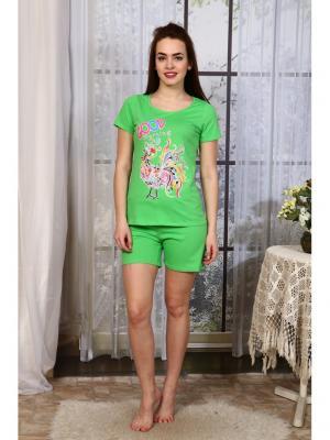 Пижама Символ года Vilana. Цвет: зеленый