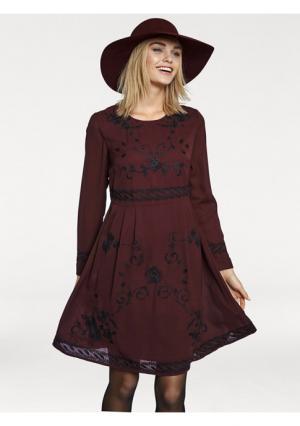 Платье Rick Cardona. Цвет: бордовый/черный