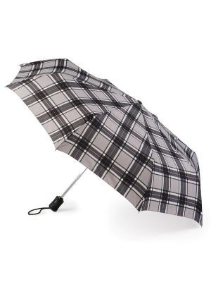 Зонт женский автомат Fulton. Цвет: серый
