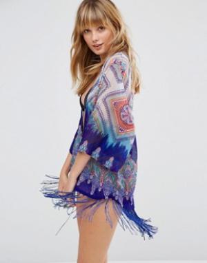 Pia Rossini Пляжное кимоно Toulouse. Цвет: синий