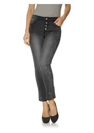 Моделирующие джинсы Ashley Brooke. Цвет: белый, серый деним, синий деним