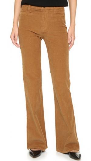 Расклешенные брюки Flea Market из вельвета Madewell. Цвет: голубой
