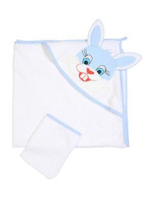 Комплект для купания малышей M-BABY. Цвет: белый, голубой