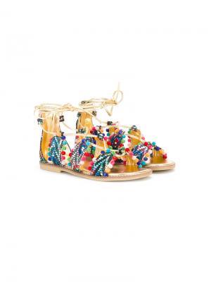 Сандалии со шнуровкой Quis. Цвет: многоцветный
