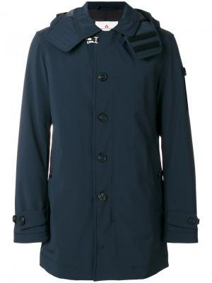 Пальто с капюшоном Peuterey. Цвет: синий