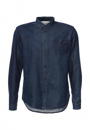 Рубашка джинсовая Deblasio. Цвет: синий