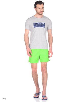 Плавательные шорты Tommy Hilfiger. Цвет: зеленый, желтый