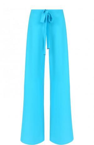 Шелковый расклешенные брюки с эластичным поясом Roberto Cavalli. Цвет: голубой