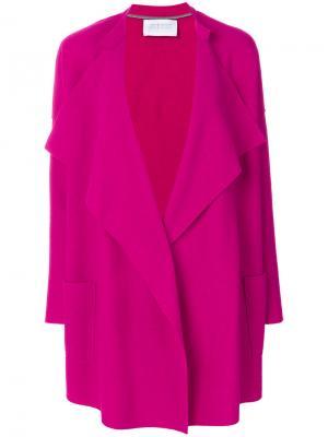 Пальто с лацканами шалькой Harris Wharf London. Цвет: розовый и фиолетовый
