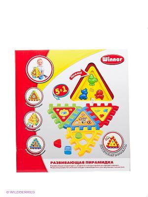 Развивающий электронный игровой набор Пирамидка Winner Toys. Цвет: красный, желтый, салатовый