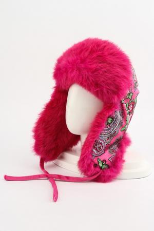 Шапка-ушанка Romax. Цвет: розовый