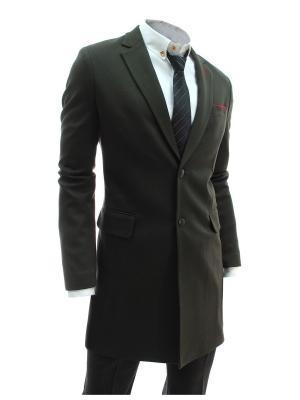 Пальто VipDressCode. Цвет: хаки